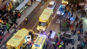 Ambulancias, en el lugar del siniestro.