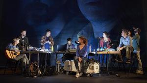 Los actores de 'Bouvetøya' en una momento de la obra.