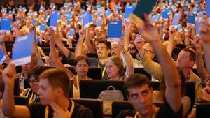 Congreso del PDECat en Barcelona, el 20 de julio del 2018