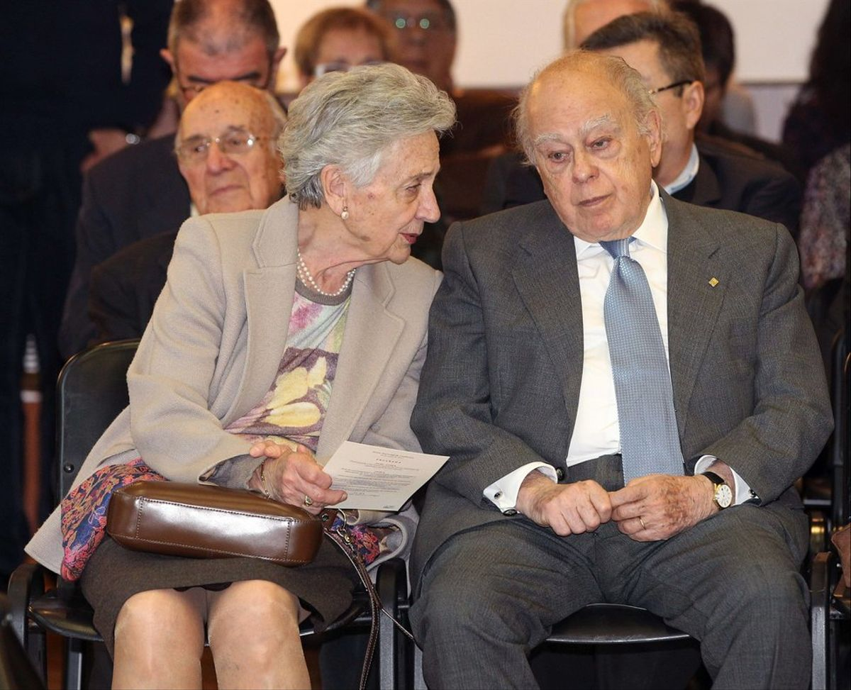 Marta Ferrusola y Jordi Pujol, en una imagen del 2015.