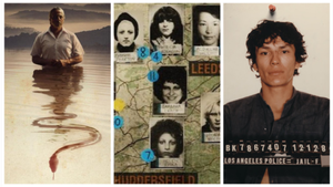 Imágenes de 'Alabama snake', 'El destripador de Yorkshire' y 'Acosador nocturno'.