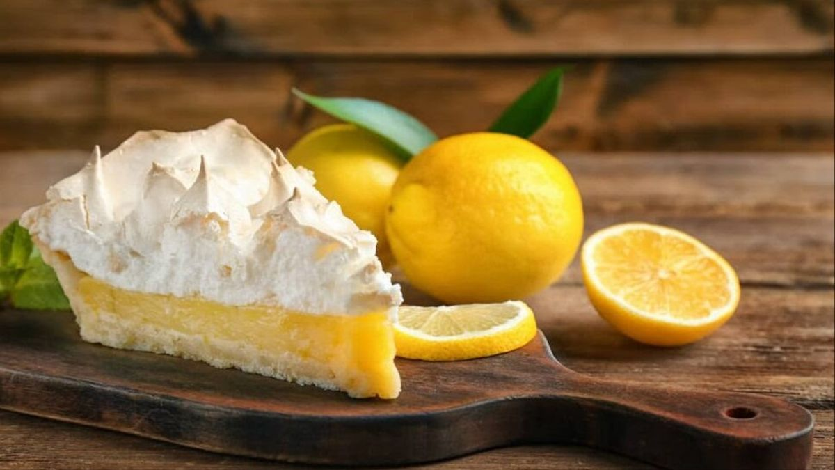 Tarta de limón sin gluten ni lactosa.