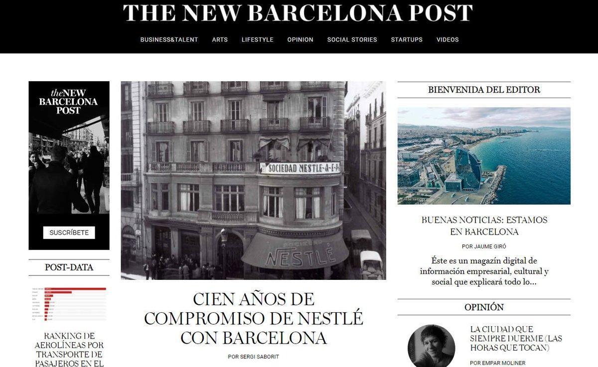 Neix el digital 'The New Barcelona Post' el diari de les bones notícies de la ciutat