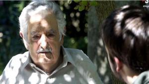 Pepe Mújica con Ricard Ustrell (TV-3).