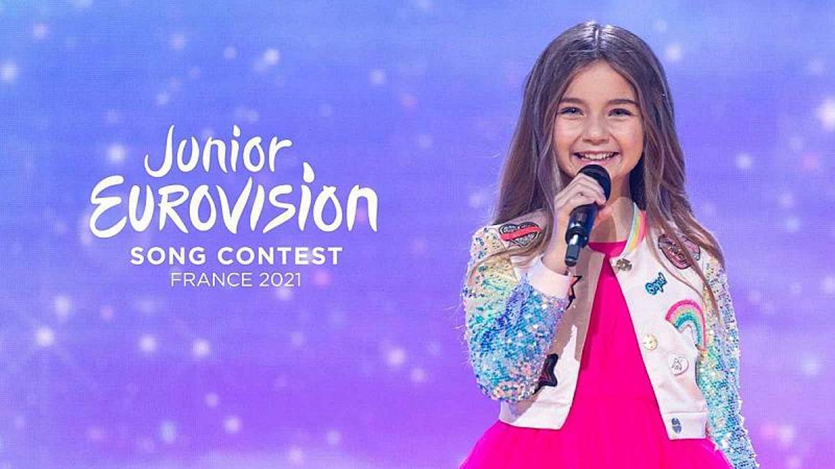 Així és el logo d'Eurovisio Júnior 2021 inspirat en la Torre Eiffel i el Nadal