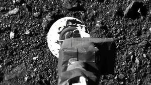Momento en que la sonda Osiris-Rex de la NASA llega al asteroide Bennu.