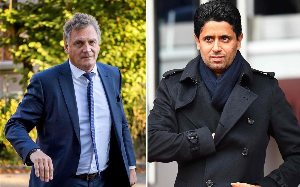 Valcke, a la derecha, y Al-Khelaifi, deberán someterse a juicio