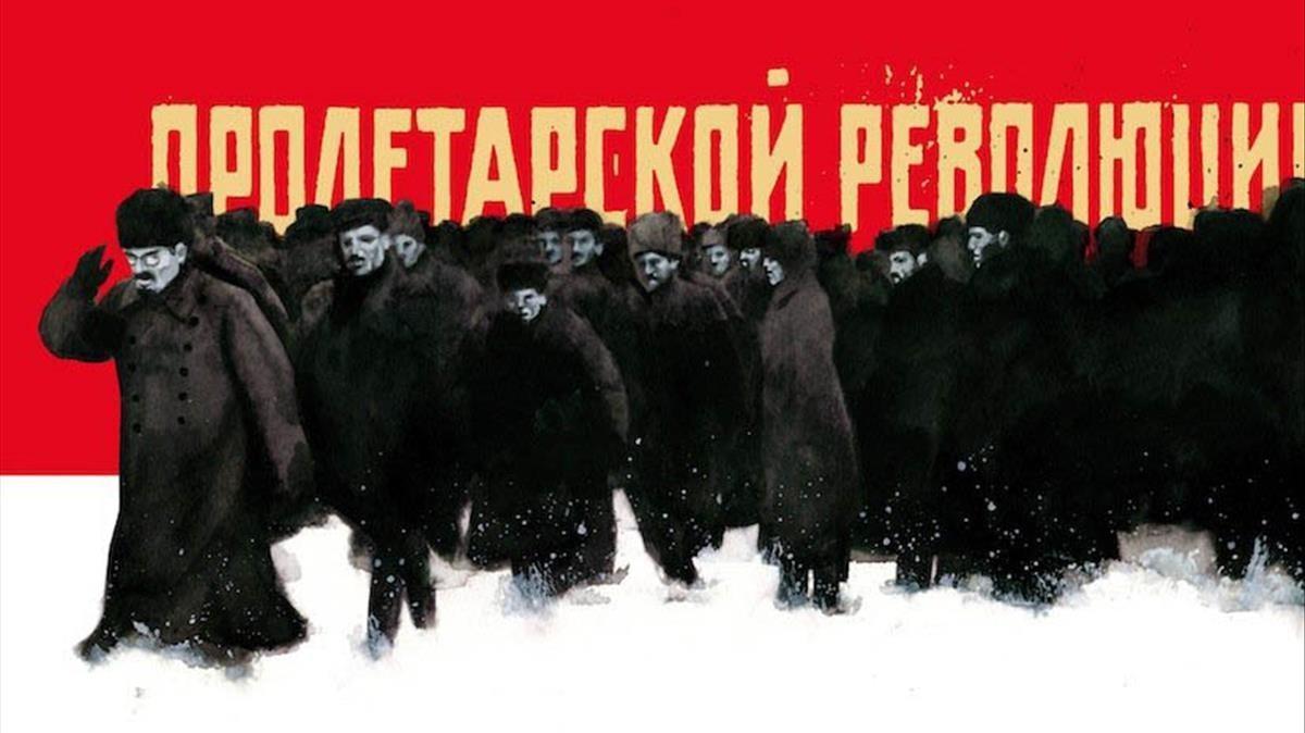 Ilustración de Fernando Vicente para 'Diez días quesacudieronel mundo', la crónica de John Reed sobre la revolución rusa.