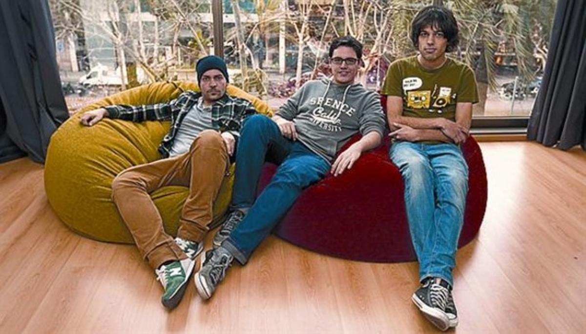 Ignacio Espada, Oriol Blanch y Jorge González, tres de los creadores de 'Gossip'.