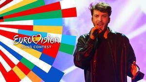 Blas Cantó en el escenario de 'Destino Eurovisión 2021'.