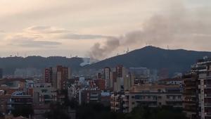 Incendio en Canyelles, Collserola. /Bombers de Barcelona