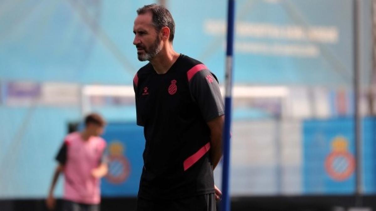 Vicente Moren, esta semana en un entrenamiento del Espanyol.