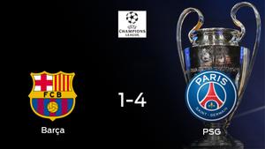 El París S. Germain golea 1-4 al Barcelona en la primera eliminatoria de octavos de final