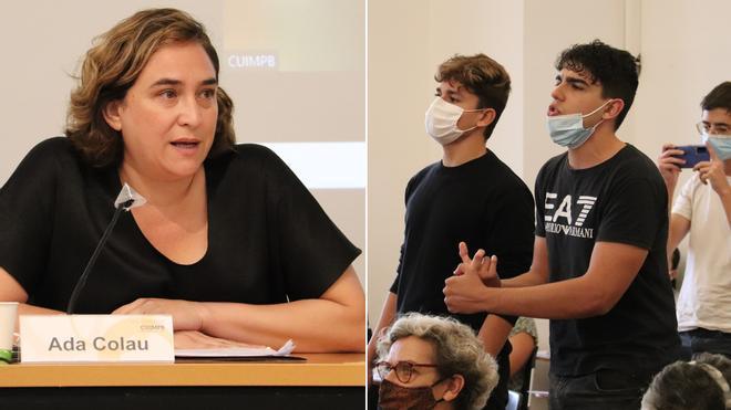 Activistas antidesahucios boicotean a Colau en un acto sobre vivienda