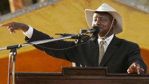 El presidente de Uganda, Yoweri Museveni.