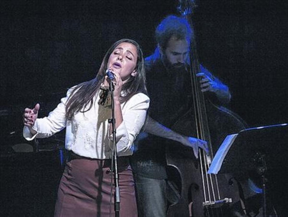 Rocío Faks, durante su actuación del pasado viernes.
