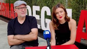 Juanjo Giménez y Marta Nieto, director y protagonista de 'Tres', en Venecia.
