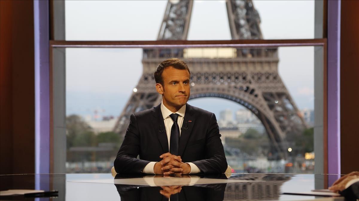 Macron, durante la entrevista.