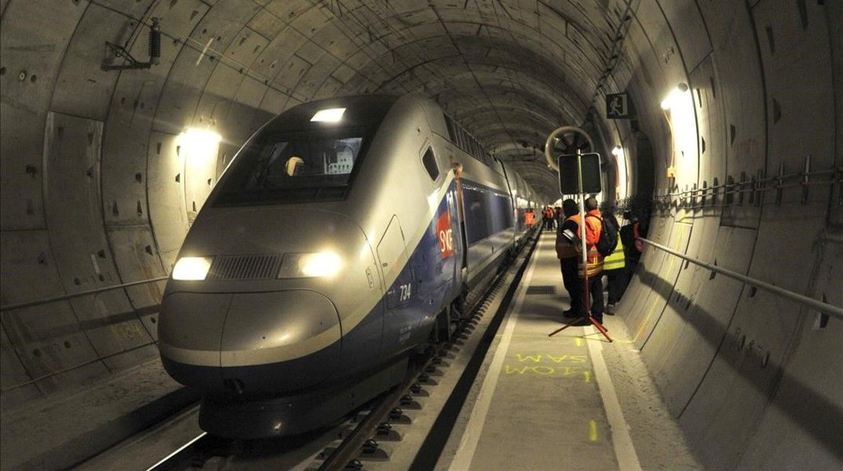 El túnel ferroviario deEl Pertús, gestionado por Florentino Perez y sus socios franceses.