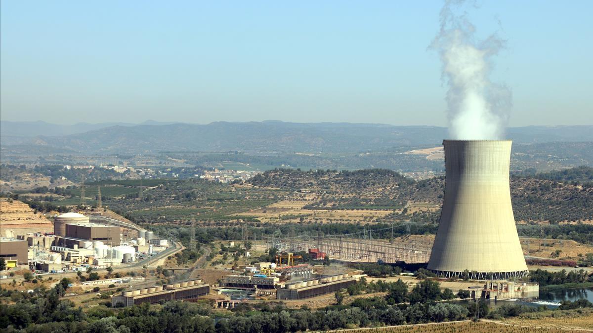 La central nuclear de Ascó, en provincia de Tarragona, cuenta con uno de los siete reactores nucleares activos en España