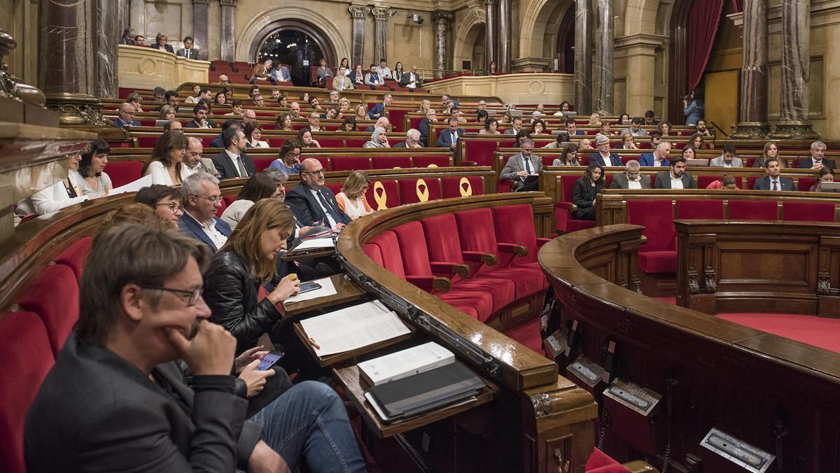 Pleno del Parlament.