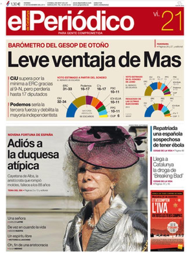 EL PERIÓDICO, 21-11-2014.
