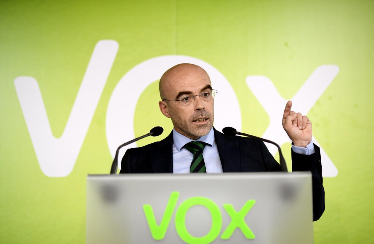 El vicepresidente de Vox, Jorge Buxadé.