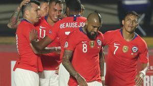 La selección chilena hizo su debut en la Copa América Brasil 2019 frente a su par de Japón, en el cierre del Grupo C.