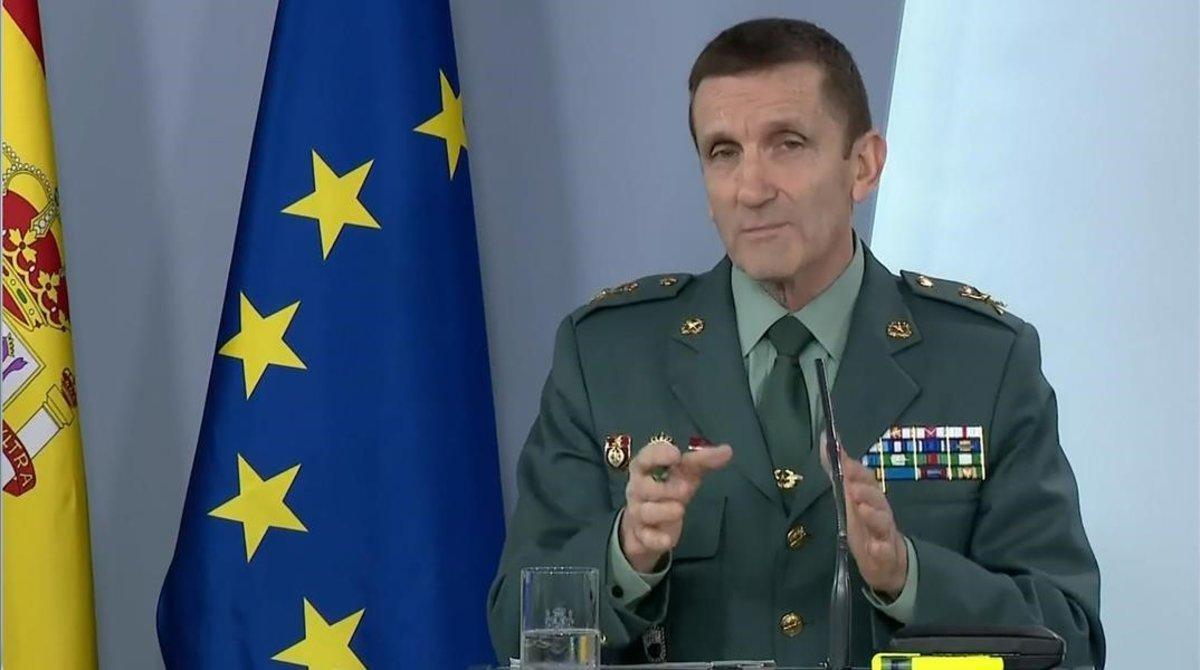 El jefe del Estado Mayor de la Guardia Civil,general José Manuel Santiago.