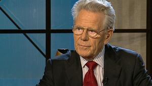 Hans Küng, hace unos años, entrevistado en TV-3.