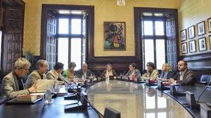 Imagen de la reunión de la Mesa del Parlament.