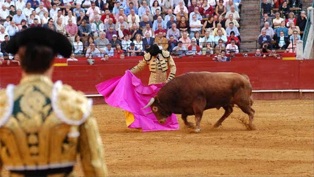 Una corrida de toros.