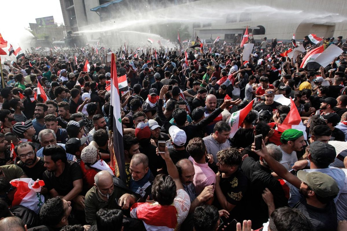 Hace tres semanas estallaron las protestas contra la corrupción y la falta de servicios públicos en la capital iraquí.