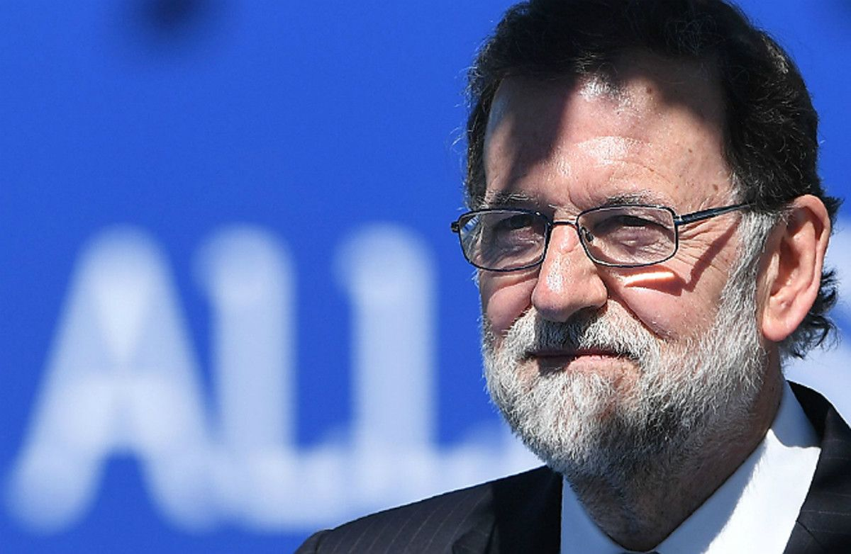 Mariano Rajoy, el pasado jueves, en la cumbre de la OTAN en Bruselas.