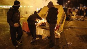 Incidentes en la calle Vitoria en el barrio del Gamonal.