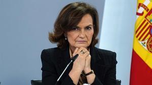 Carmen Calvo, vicepresidenta primera del Gobierno.