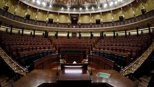 Vista del hemiciclo del Congreso de Diputados.