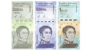 Nuevos billetes en Venezuela.
