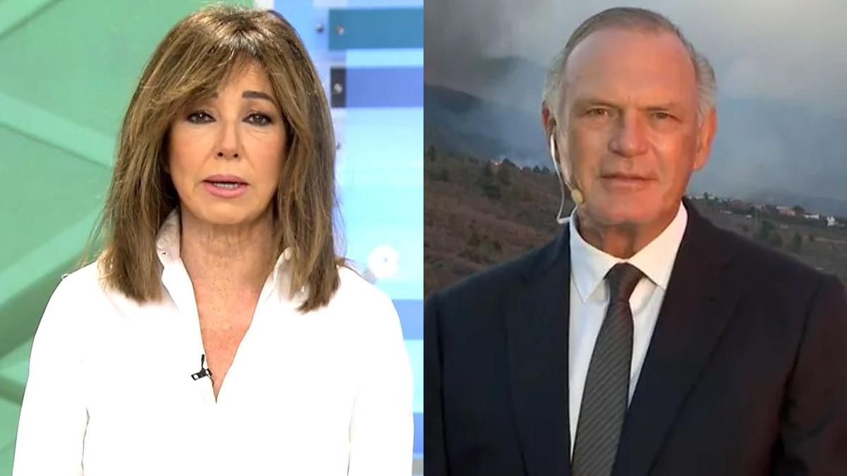 Telecinco sustituye 'Madres' por un especial del volcán de La Palma con Ana Rosa y Pedro Piqueras