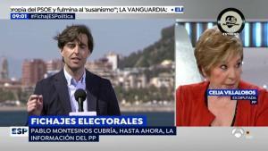 """El ácido dardo de Celia Villalobos al PP tras el fichaje de Pablo Montesinos: """"A ver si les pasa como al Real Madrid"""""""
