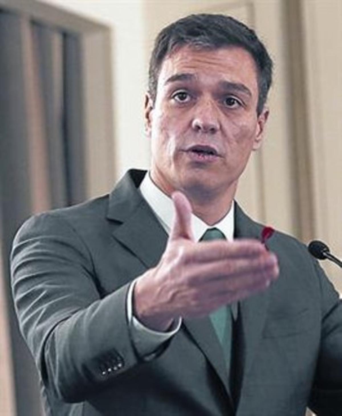 Pedro Sánchez, en el acto de ayer.