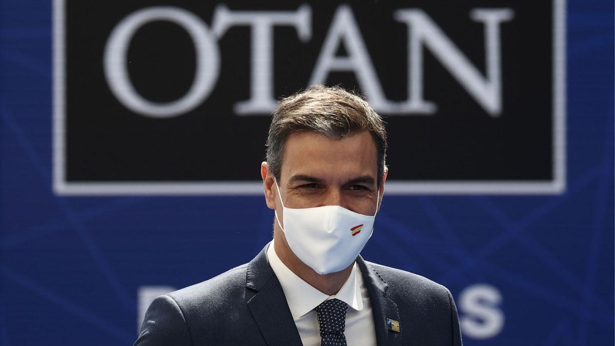 Pedro Sánchez llega a la cumbre de líderes de la OTAN en Bruselas.