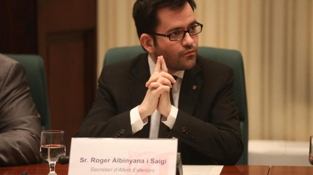 El secretario de Afers Exteriors de la Generalitat, Roger Albinyana, el pasado junio.