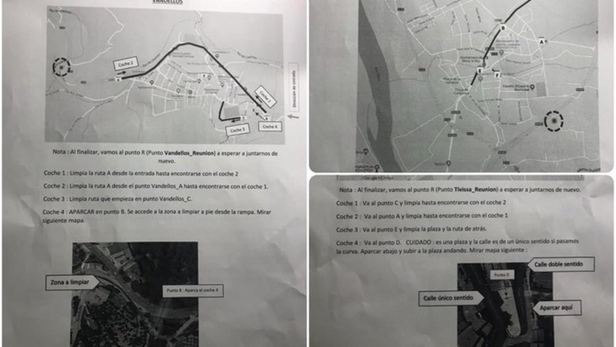 Els Mossos identifiquen 14 persones per retirar símbols independentistes a Tarragona
