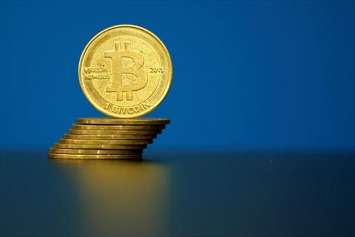 Unos 'bitcoins'.