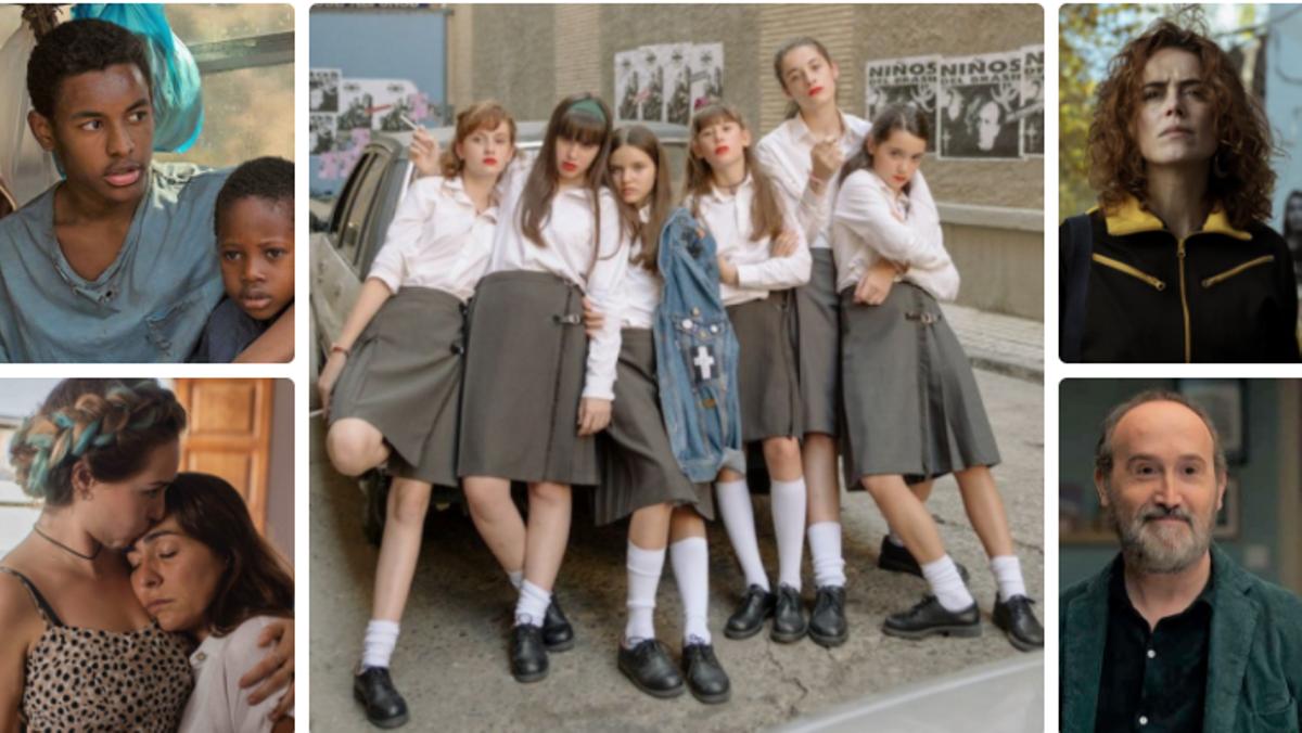 Fotogramas de 'Adú', 'Las niñas', 'Ane', 'La boda de Rosa' y 'Sentimental'.