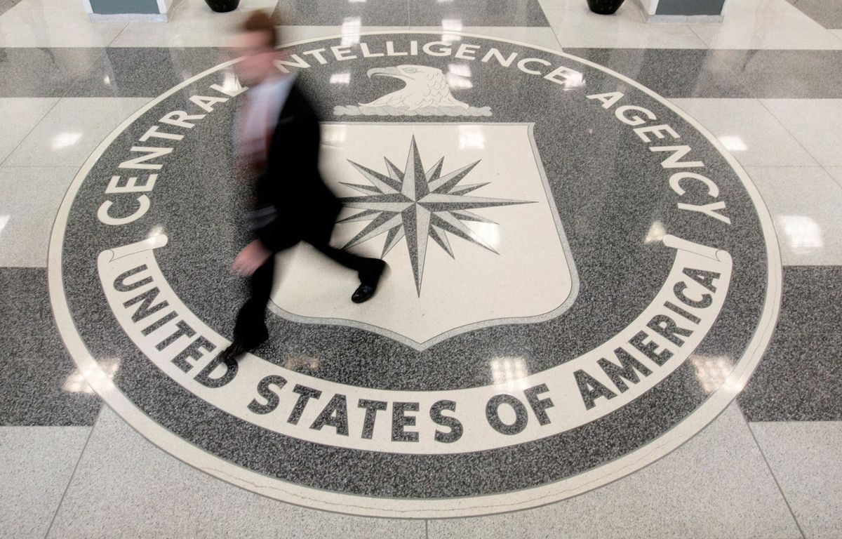 Vestíbulo de la sede de la CIA en Langley, Virginia.