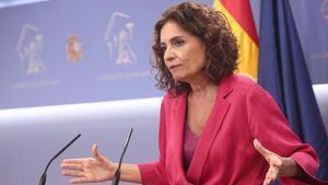 La ministra de Hacienda y portavoz del Gobierno, María Jesús Montero, el pasado 10 de septiembre en el Congreso.