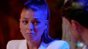 Imagen de la hoguera de confrontación de Diego y Lola en 'La isla de las tentaciones 3'.