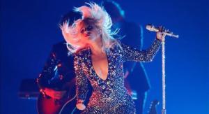Lady Gaga, durante su actuación en la entrega de los premios Grammy, el pasado mes de febrero.
